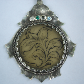 horn-and-sterling-pendant
